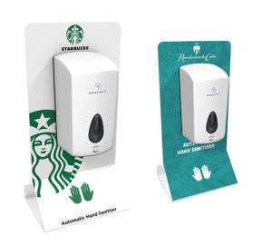 hand sanitiser and dispenser